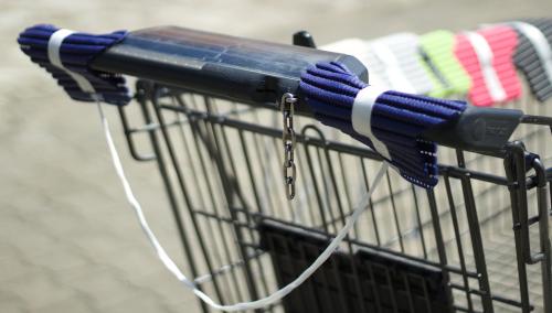 Handsi (blau) Einkaufswagen weit